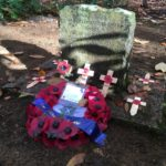 War memorial at Chobham Place Woods