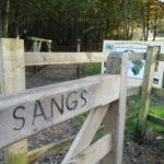 Entrance gate at Naishes Wood