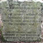 Memorial stone at Chobham Place Woods