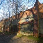 Historic firing wall at Wellesley Woodlands