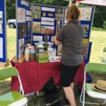 Pitstop display at Canines on the Common with Horsell Common Preservation Soc. and the Woking & Sam Baere Hospice