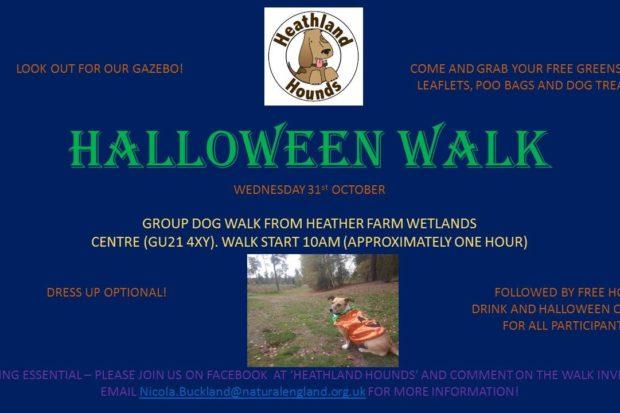 Heathland Hounds Walk Poster