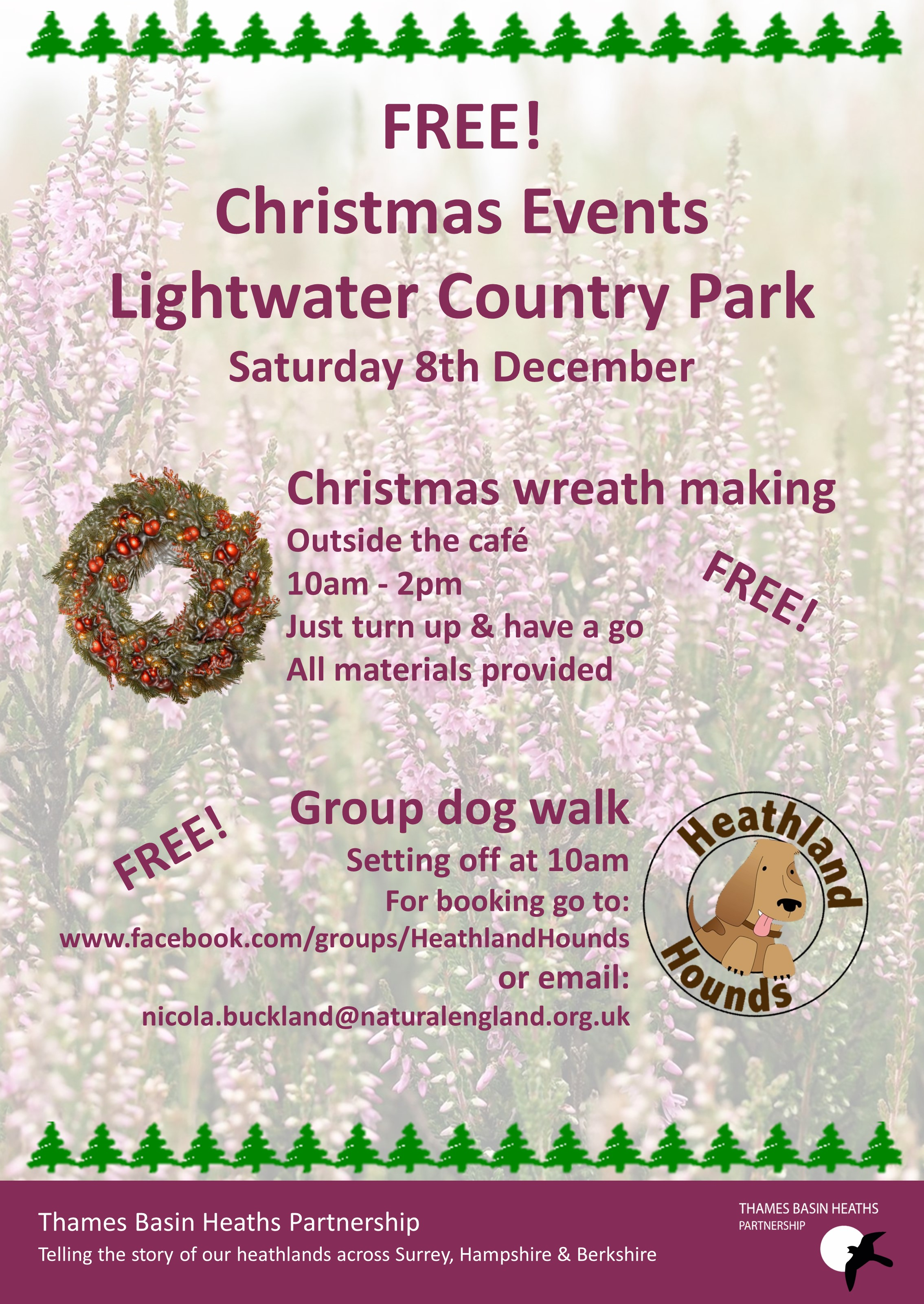 Christmas events at Lightwater Country Park
