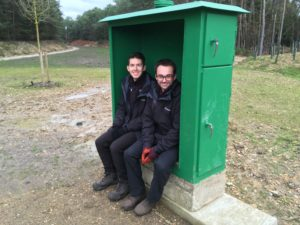 Buckler's Forest historic green box turned into a seat!