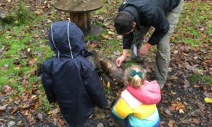 Kids at Bug hunt at Holy Trinity School's Nature Club