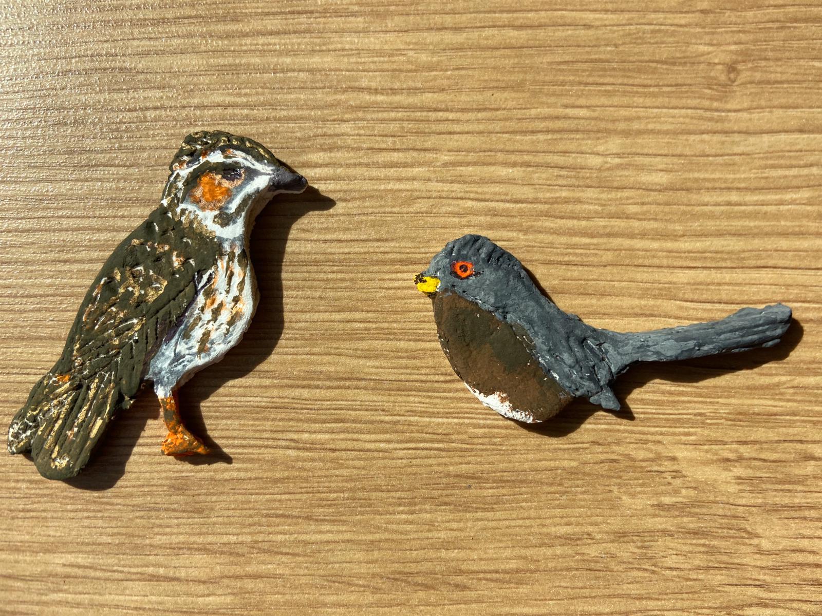 Picture of salt dough birds