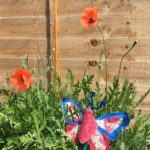 Photograph of beautiful butterfly created to celebrate VE day!
