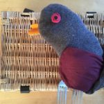 Photo of Nick's Dartford warbler. Made from a sock and other household items. It's genius!