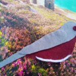 Picture of Daria's felt Dartford warbler on a scenic heathland background photograph