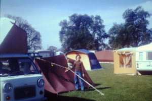 Picture of Sarah camping in 1977