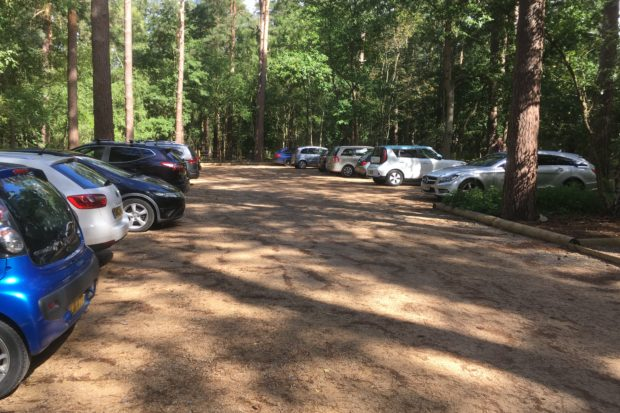 Photograph of the car park at Hartland Country Park