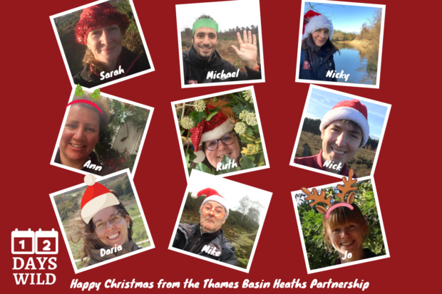 Christmas montage of all nine members of the heathland team.