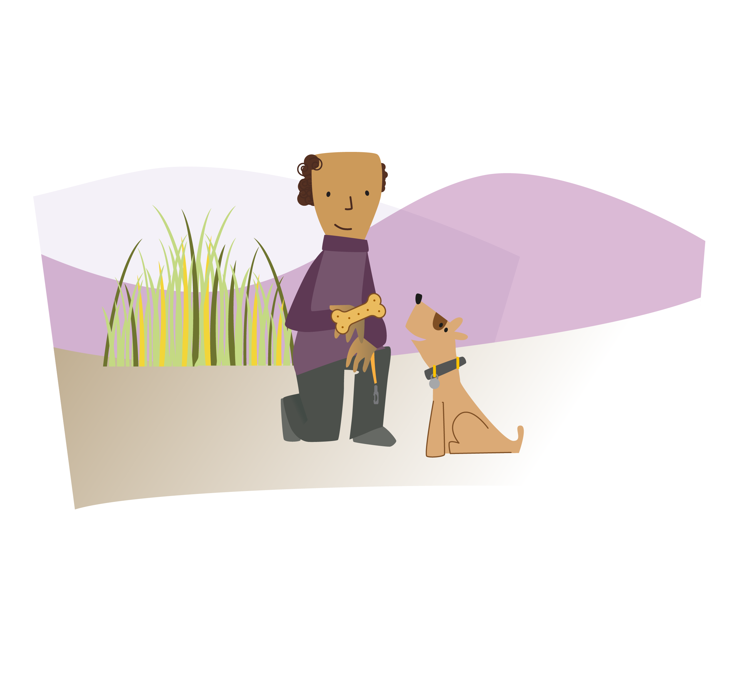 Image of dog focussed on his owner
