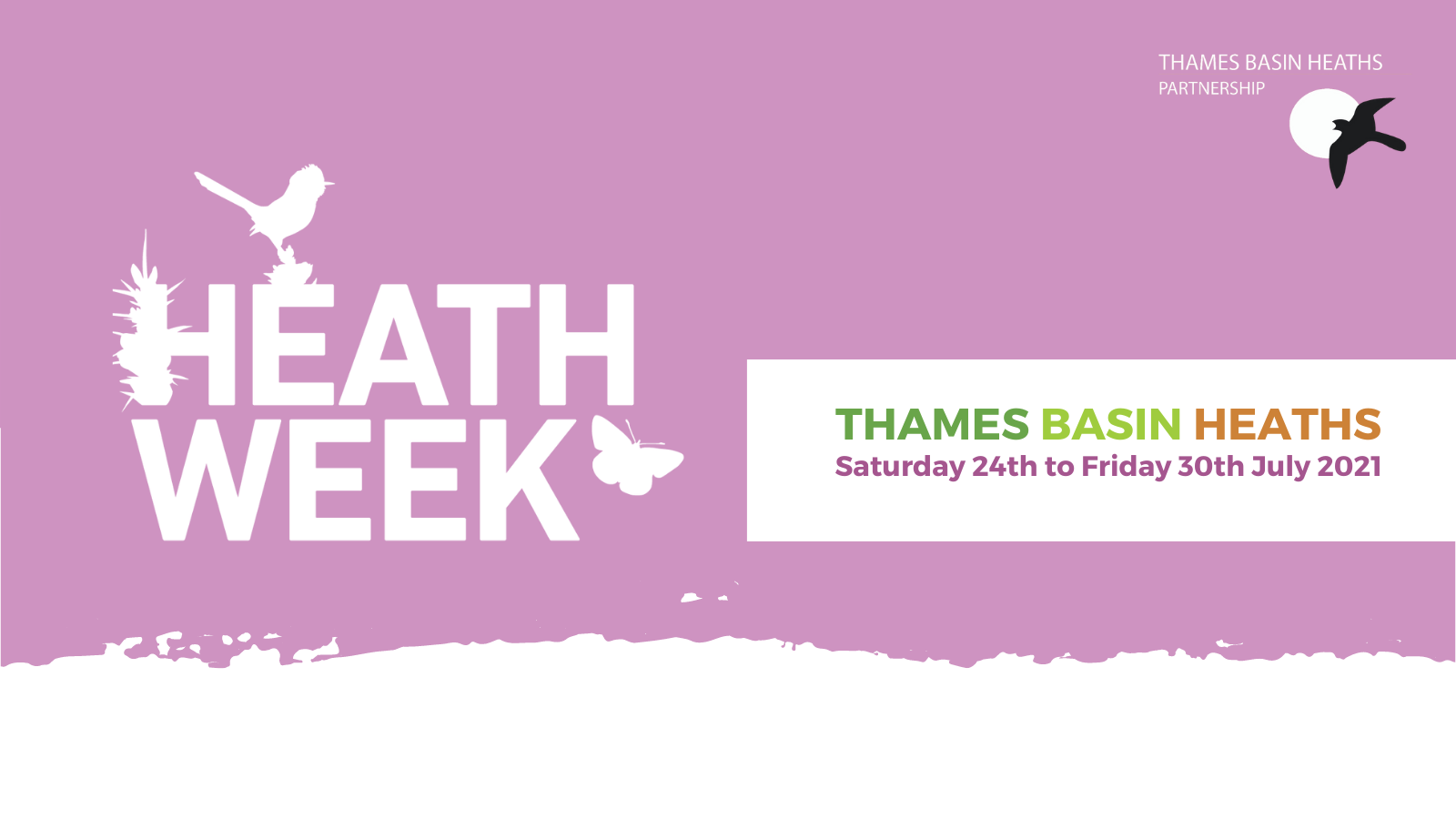 Banner for Heath Week 2021 - Saturday 24th to Friday 30th July 2021