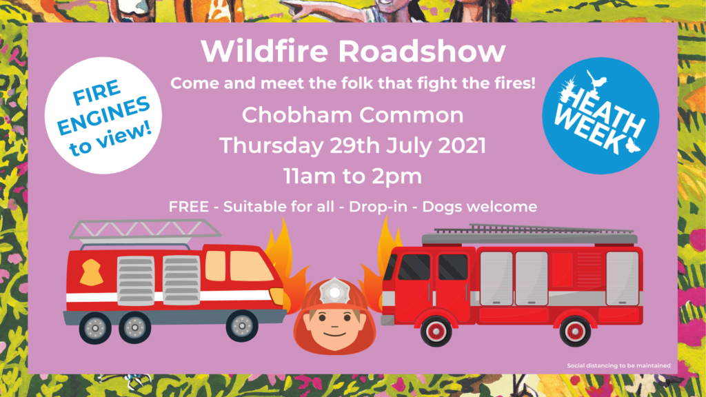 Heath Week event poster showing fire engines